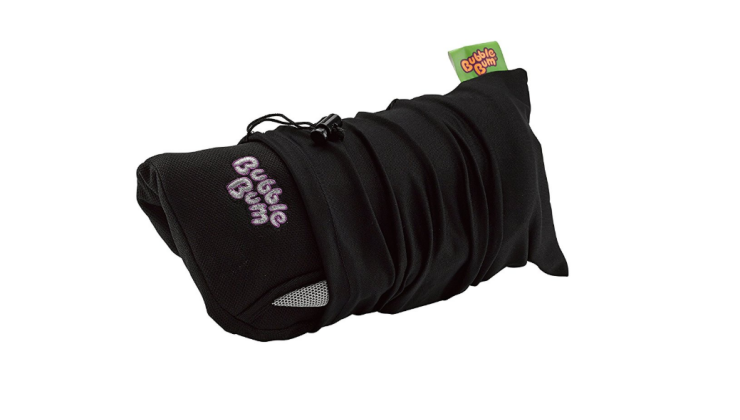 The BubbleBum Booster is foldable and portable.