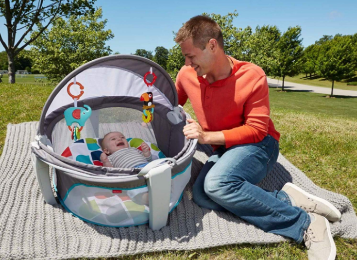 The Fisher-Price On-The-Go Baby Dome can be used both indoors and outdoors.