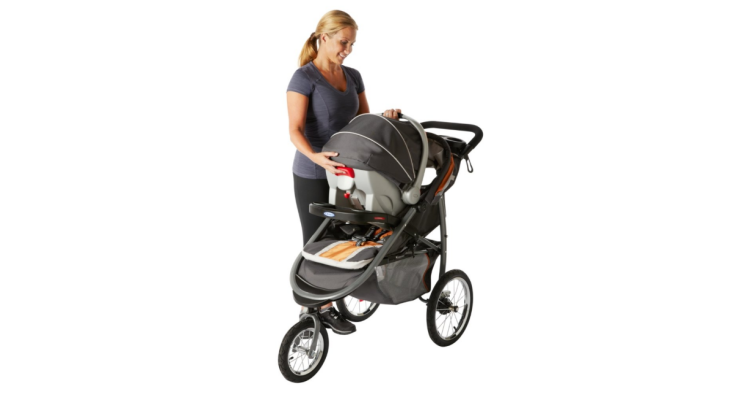 The Graco SnugRide 35 can be used with strollers from Graco.