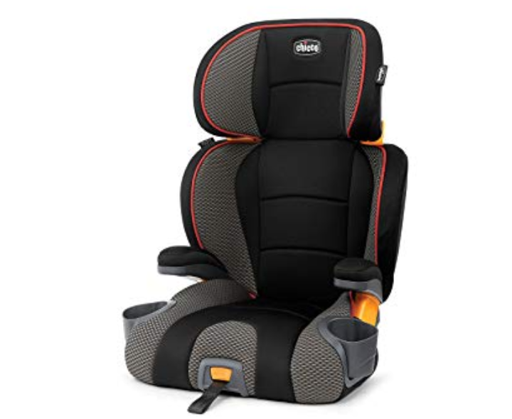 Chicco KidFit Booster Seat features 10 positions for growing children.