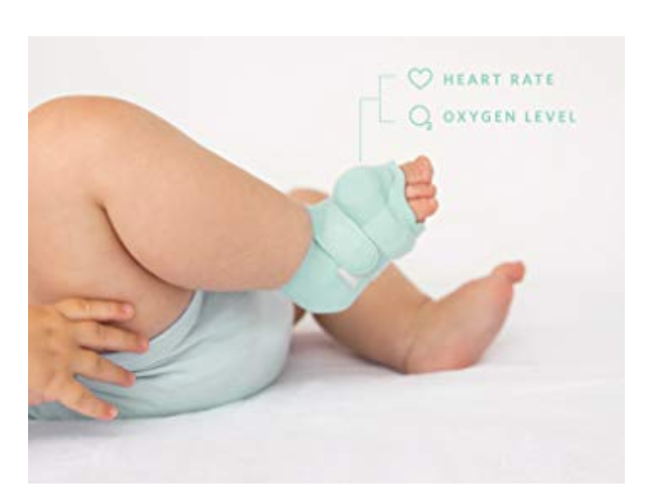 The Owlet Baby Monitor comes with a smart sock that records the oxygen levels and heart rate.
