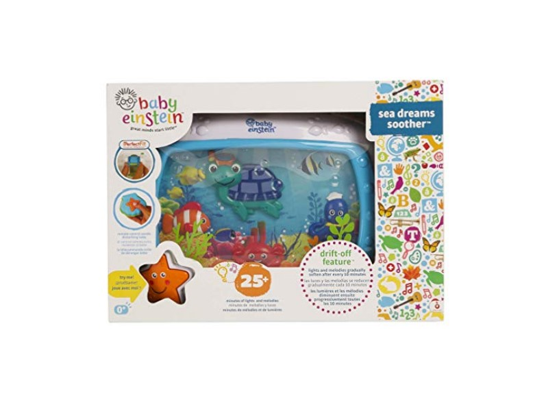 You can attach the Baby Einstein Sea Dreams Soother Crib Toy to your car seat.