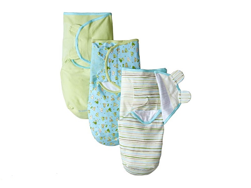 The Summer Infant SwaddleMe swaddling blanket is adjustable for different baby sizes.