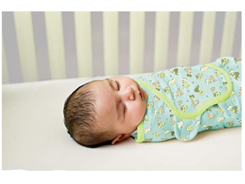 The Summer Infant SwaddleMe baby wrap is breathable & keeps the infant comfortable during the night.