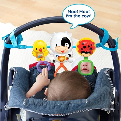 VTech Baby On-The-Moove car seat toy rear view
