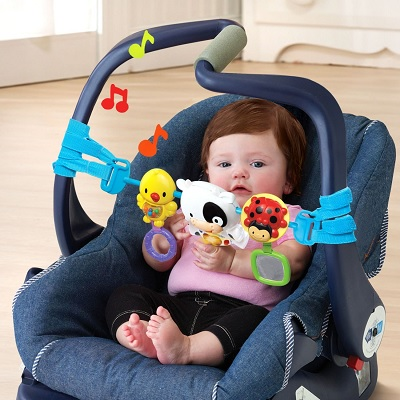 VTech Baby On-The-Moove car seat toy front view