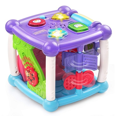 busy learners activity cube musical baby toy side view