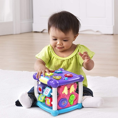 VTech Busy Learners Activity Cube child playing