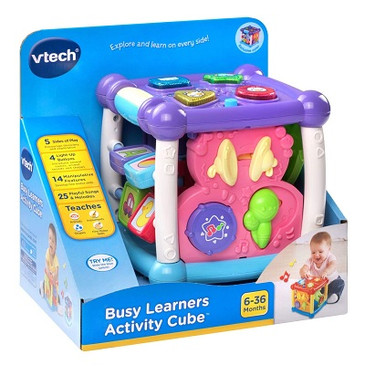busy learners activity cube musical baby toy package