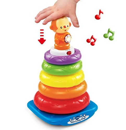 8 Month Old Toys VTech Stack and Sing Rings Music