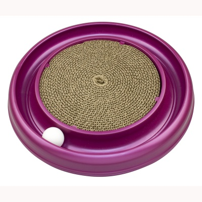 bergan turbo scratcher cat toy purple