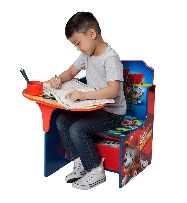 delta children desk with storage bin