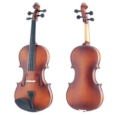 Mendini MV300 Violin Front and Back
