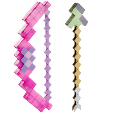 enchanted bow & arrow minecraft toys and minifigures for kids design