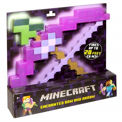 enchanted bow & arrow minecraft toys and minifigures for kids box