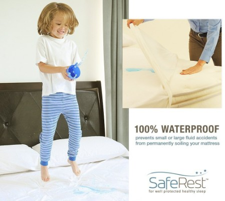 saferest twin size waterproof mattress protector for kids hypoallergenic