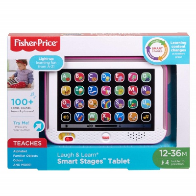 fisher-price laugh & learn smart stages tablet for kids package