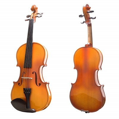 Mendini MV400 Violin Front Back
