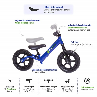 the croco ultra-light balance bike lightweight features