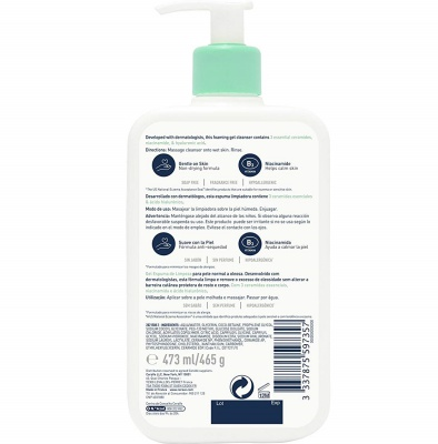 cerave foaming face wash for teens ingredients