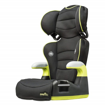 evenflo naperville high back booster seat side