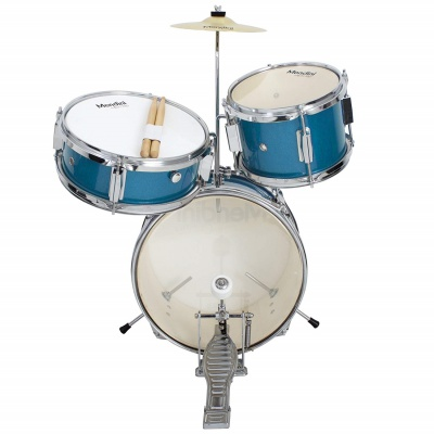 mendini cecilio 3-piece junior set drum set for kids and toddlers front