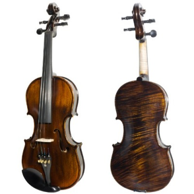 Mendini MV50092D Violin Front Back