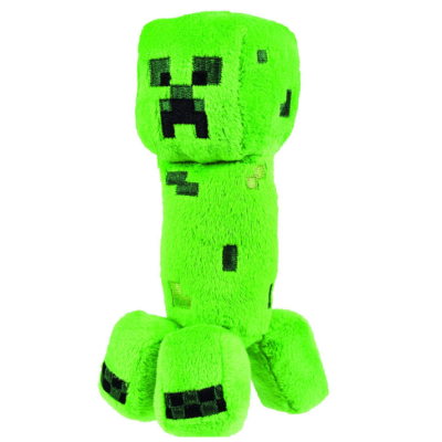 creeper 7 plush minecraft toys and minifigures for kids side view