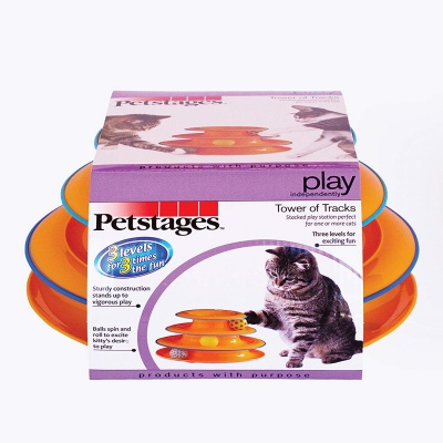 petstages tower of tracks cat toy package