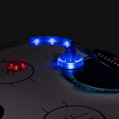 triumph fire 'n ice LED light-Up air hockey table glow