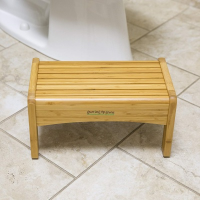 growing up green bamboo step stool wooden