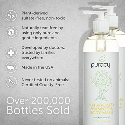 puracy natural baby shampoo for kids and babies features