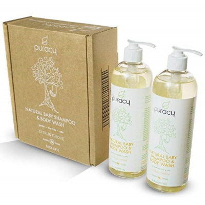 puracy natural baby shampoo for kids and babies box