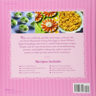 the disney princess cookbook for kids back