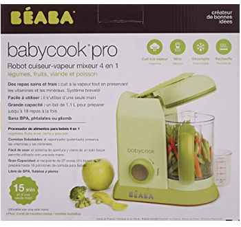 Babycook pro integrates four functions into one unit.