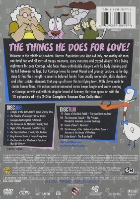 courage the cowardly dog cartoon network show disc one and two