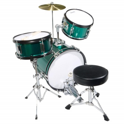 mendini cecilio 16 inch 3-piece set drum sets for kids and toddlers side view