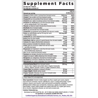 New Chapter Perfect Vitamins Supplement Facts