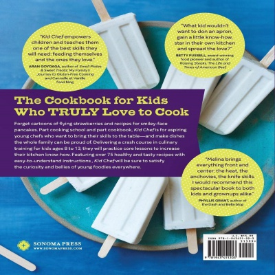 kid chef: the foodie kids cookbook for kids back