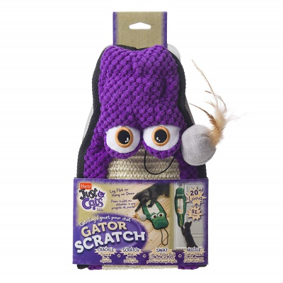 hartz gator just for cats toy purple