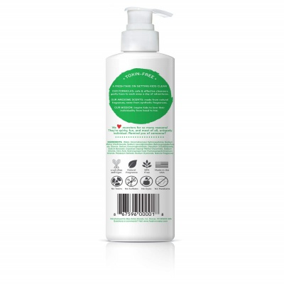 fresh monster coconut 2-in-1 shampoo for kids and babies back
