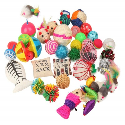 fashion's talk 20 pieces cat toy collection