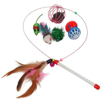 fashion's talk 20 pieces cat toy feather