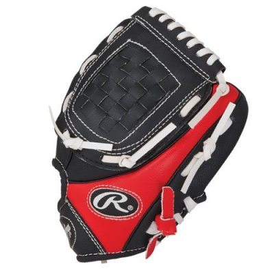 rawlings PL90MB youth kids baseball glove black and red