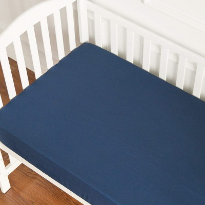 tillyou microfiber silky soft crib sheet fitted