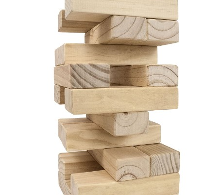giant tumbling timbers outdoor game wooden