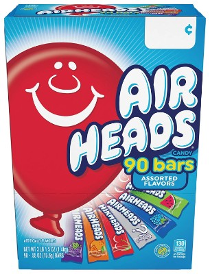 Airheads Bars Chewy Fruit  90 bars