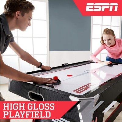ESPN game table air hockey table players
