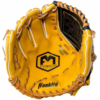 franklin sports field master series kids baseball gloves yellow