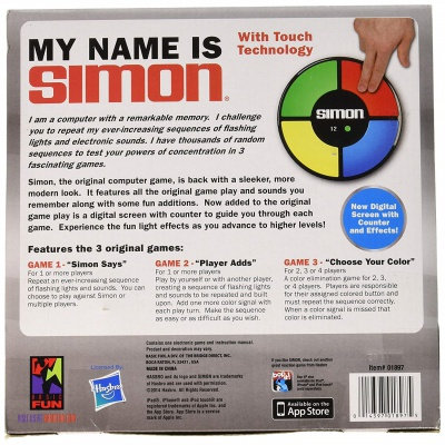 simon electronic memory game adhd toy back
